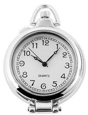Taschenuhr schwarz Silber Klassik analog Quarz Metall römisch D-485722000032575