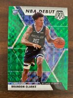 2019-20 Panini Mosaic Brandon Clarke Rookie Green Prizm Refractor NBA Debut RC