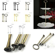 2/3Tier Cake Plate Stand Handle Fitting Hardware Rod Plate Stand Wedding Part AP