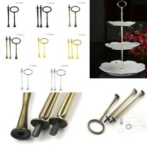 2/3Tier Cake Plate Stand Handle Fitting Hardware Rod Plate Stand Wedding Part*q*