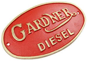 Gardner Marine Diesel Logo - Cast Iron Sign Plaque