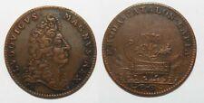 Jeton en cuivre prise de Rosas Louis XIV - 1696  ( L002- Ref : F12760 )