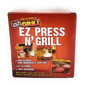 $19 EZ Press N Grill BP-1 Perfect Burger Patty Maker Container NEW As Seen On TV