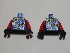 Lego 2 torses noir / 2 black torsos from minifig set 6902 6836 6915 6979 6901
