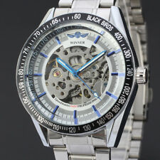 Winner Automatic Stainless Steel Case & Strap Skeleton Mechanical Watch