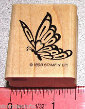 Stampin Up Victorian Frame Stamp Single Butterfly pretty colored in HTF Clean