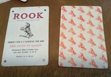Parker Brothers Rook Card Game in Plastic Case W Instructions Very used