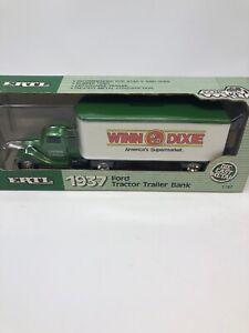 WINN DIXIE 1937 FORD TRACTOR TRAILER 1988 ERTL DIECAST BANK #9706