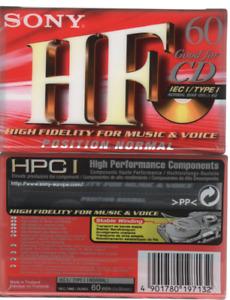 20x Sony HF 60 cassette K7 tape NEUF high fidelity type I made in thailand
