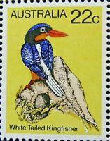 AUSTRALIA 1978 SG675 22c. BIRDS (1ST SERIES) WHITE-TAILED KINGFISHER  -  MNH