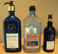 New ListingBath & Body Works Aromatherapy Essential Oils Lavender Mist + Lotion + Body Wash