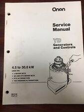 Onan Marine Generators and Controls, YD Service Manual