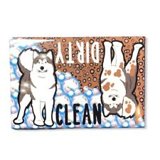 Alaskan Malamute Dog Dishwasher Magnet Kitchen Cleaning Accessories Home Decor