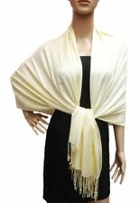"""2-ply 28""""X78"""" Solid Pashmina Scarf Shawl Wrap Stole Wool Silk Blend"""