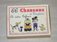 JOLI BOITE A CARTES / 66 CHANSONS ET COMPTINES DE NOTRE ENFANCE / TRES BON ETAT
