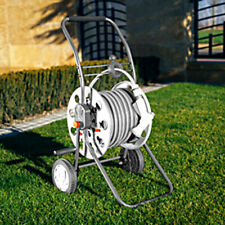Irrigation System Gardening_Solid HOSE CART TITAN REEL with Wheels for 60m 1/2""