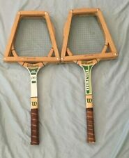 Wilson Pro Jack Kramer/Chris Evert 2 pack of Rackets and 2 Wood Covers