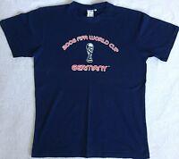 FIFA WORLD CUP 2006 ★ T-shirt Gr. L Kurzarm Freizeit SOMMER Fussball Dunkelblau