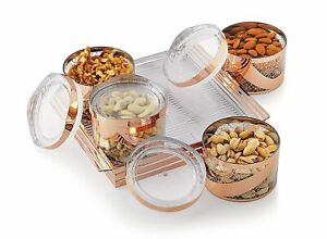 Dry Fruit Box with Lid & Serving Tray Storage Container Set of 4 US