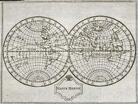 1773 MappeMonde - Carte géographique ancienne, très rare. Gravure carte du monde