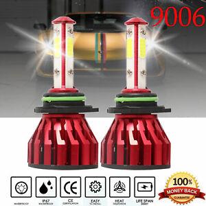2Pcs 9006 HB4 9012 4-Side LED Headlight Kit Hi or Low Beam For Volkswagen Golf