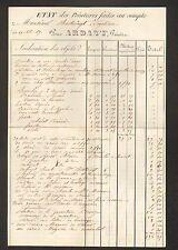 """LIMOGES (87) PEINTURE en BATIMENT / Peintre """"ARDANT"""" en 1866"""