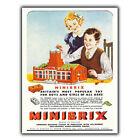 MINIBRIX lego SIGN METAL PLAQUE Vintage Retro Advert poster reprint 1930s