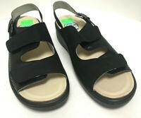 Franken Schuhe Damen Sandale mit herausnehmbarem Fußbett Komplett Leder (4005)