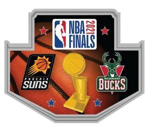 2021 NBA FINALS COLLECTOR PIN PHOENIX SUNS VS. MILWAUKEE BUCKS 1ST TIME CHAMPS !