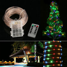 120 LED Fairy String Rope Lights Battery Operated Waterproof 39ft +Remote Timer