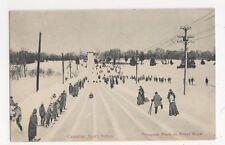 Canada, Canadian Sports Series, Taboggan Track on Mount Royal Postcard, B133