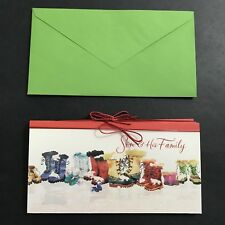 Lot of 4  Hallmark Son & His Family Christmas Greeting Card