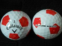"20 CALLAWAY ""HEX CHROME SOFT"" -with ""RED TRUVIS"" - ""MINT/PEARL"" Grades."