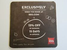 BEER Bar Coaster ~*~ IBIS Hotel Booking Business ~ Discount Booking Opportunity