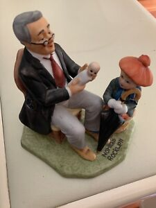 """NORMAN ROCKWELL Collectors Club """"Doctor and the Doll"""" 1980 Annual Figurine"""