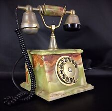 Téléphone vintage 70's onyx et plaquage or fonctionne sur réseaux
