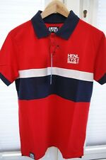 Henleys Mens Dissemble Polo Racing Red. Size S. New with tags