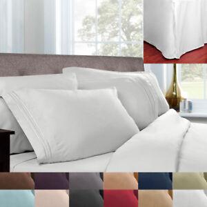 5 Piece Pleated Bed Skirt & Sheet Set 1500 Series Egyptian Comfort
