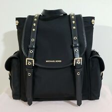 NWT!! 100% AUTHENTIC MICHAEL KORS SMALL FLAP BLACK LEILA BACKPACK. MSRP $298