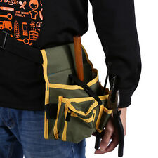 1piece Utility Pockets Pouch Belt Hardware Mechanic Electric Canvas Tools Bag MO