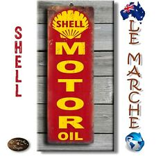 "🛢️ SHELL ""Motor Oil"" Wooden Rustic Plaque / Sign (FREE POST) 🛢️"