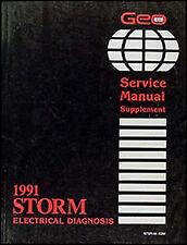 vehicle repair manuals \u0026 literature ebay1991 geo storm electrical diagnosis manual wiring diagram book 91 schematics
