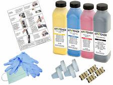 DELL 1250C - 4 x Kits de recharge toner compatibles Noir, Cyan, Jaune, Magenta