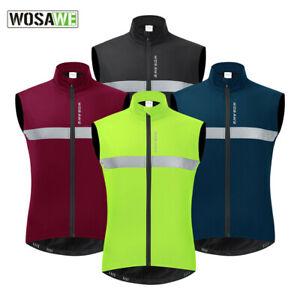 Chaleco de ciclismo de invierno MTB chaqueta de bicicleta sin mangas reflectante