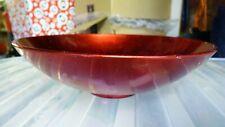 RED GLASS POT POURRI DECORATIVE BOWL DISH ORNAMENT
