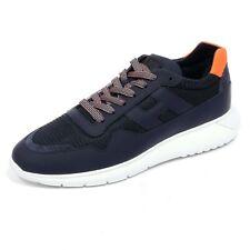 8071AB sneakers uomo HOGAN INTERACTIVE3 blue/orange shoes men