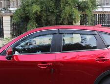 For Mazda CX-5 CX5 2017 2018 Car Window Visor Rain Sun Shade Deflector Trim 4pcs
