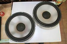 "Pair of Transparent 12"" 30W K015050-008M Woofer Speaker Drivers"