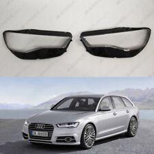 Audi A6 C7 (typ 4G) PRE LCI OEM Headlight Glass Headlamp Lens Cover (PAIR)