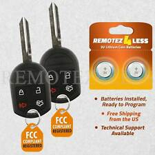 2 For 2010 2011 2012 2013 2014 Ford Mustang Keyless Entry Remote Car Key Fob